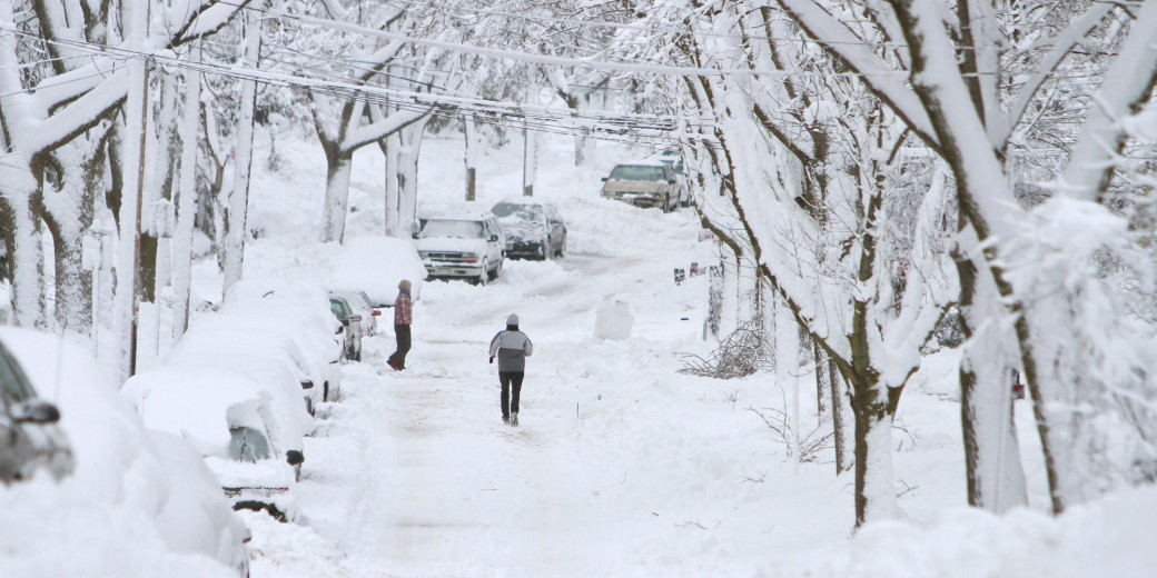 Major Midwest Snow Storm Dumps 17 Inches On Madison, Wisconsin